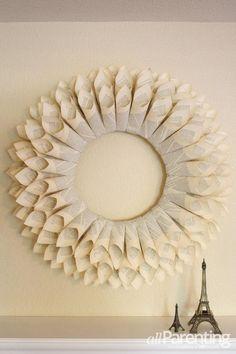 DIY Tutorial: DIY WREATH / DIY paper wreath - Bead&Cord