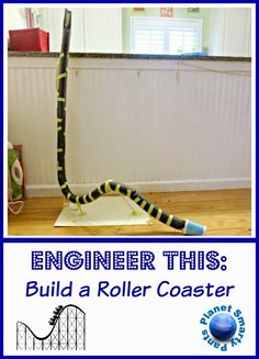 An engineering challenge for kids to design and build a roller coaster. Recommended by Andrea Beaty, author of Rosie Revere Engineer. #STEM