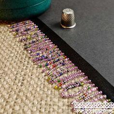 Multicolour Pink Beaded Fringe MA532 | Mokshatrim | Exotic trims lace and haberdashery Cerise Pink, Beaded Trim, Semi Transparent, Fringe Trim, Haberdashery, Black Satin, Seed Beads, Beaded Bracelets, Lace