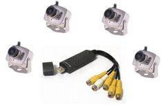 DVR Full System 4 channel security system USB2 With 4 CCTV 6 Led Camera 420TVL Night vision price, review and buy in Egypt, Amman, Zarqa | Souq.com