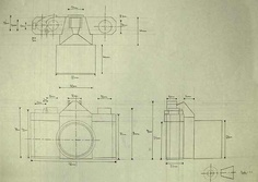orthographic drawing of a camera