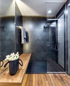 Bathroom design in black - 8 useful tips that cannot be overstated .- Baddesign in Schwarz – 8 nützliche Tipps, die nicht zu übersehen sind – Dekoration ideen Bathroom design in black – 8 useful tips that cannot be overlooked # decoration ideas 365 - Bad Inspiration, Bathroom Inspiration, Bathroom Ideas, Bathroom Spa, Bathroom Mirrors, Bathroom Blinds, Bathroom Showers, Bathroom Colors, Bathroom Shelves