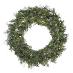 70-Light LED Cedar Christmas Wreath - Indoor