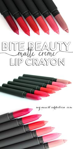 Bite Beauty Matte Creme Lip Crayon review and swatches