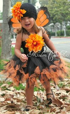 Halloween Costume Ideas, butterfly costume, tutu, monarch, toddlers