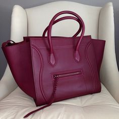 This color is so breathtaking...I think of it as almost a frosted mulberry color.  I want this bag!