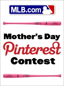 "MLB is giving you the chance to outfit your mom for Mother's Day. Create a new board called ""MLB Mother's Day."" Then pin four items from the MLB.com shop and you could win them all!    Click through for details and start pinning!"