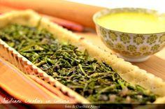 Quiche agli asparagi selvatici e zafferano
