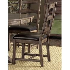 Progressive Boulder Creek Dining Chairs (Set of 2) (Pecan standard dining chairs), Brown (Rubberwood)