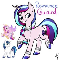 Size: 833x850 | Tagged: artist:milchik, fusion, pony, princess cadance, safe, shining armor