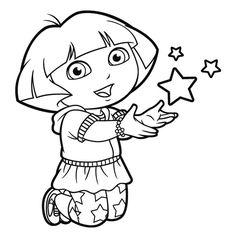 Coloriage de Dora