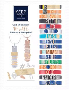 NFL AFC inspired Keep Collective bracelets. #keep #keepcollective #football keep-collective.com/with/kristahughes