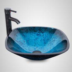 Blue-Square-Bathroom-Tempered-Glass-Bowl-Vessel-Sink-ORB-Pop-up-Drain-Faucet-Set