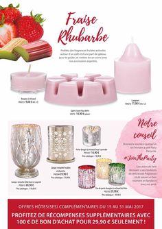 Fraise & Rhubarbe, the best seller de chez PartyLite https://elodiefuzeau.partylite.fr/Shop/Category/1356