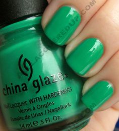 """""""Four Leaf Clover"""" - China Glaze Up & Away collection - spring 2011"""