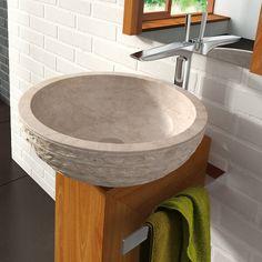 Stone Sink, Modern Bathroom, Contemporary Baths, Bathroom Improvements, Bathroom Sinks For Sale, Small Bathroom Remodel, Bathrooms Remodel, Italian Bathroom, Sink