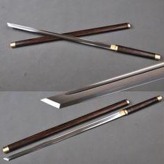 1060 à la main en acier au carbone japonais Ninja épée katana lame droite pratique