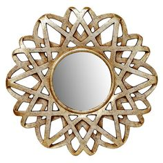 Wall mirror with a silver and gold-finished openwork frame.Joss and Maine Product: Wall mirrorConstruction Material: MDF, polyureth...
