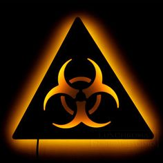 Illuminated Wall Art - Biohazard Sign $90 - click on the photo for a direct link -  http://goreydetails.net/shop/index.php?main_page=product_info=70_73_id=1406