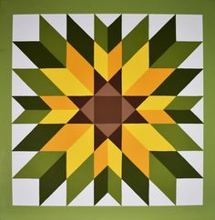 """Hand Made Barn & Home Quilt """"Sunflower"""" or """"Black Eyed Susan"""" 2 x 2 Barn Quilt Designs, Barn Quilt Patterns, Quilting Designs, Block Patterns, Sunflower Quilts, Painted Barn Quilts, Barn Art, House Paint Exterior, Black Eyed Susan"""