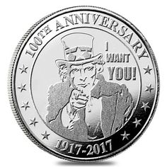 """1 oz """"I Want You"""" Silver Round .999 Silver"""