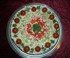 Schwarzbrottorte, ein schmackhaftes Rezept mit Bild aus der Kategorie Snacks und kleine Gerichte. 4 Bewertungen: Ø 4,0. Tags: Brotspeise, Gemüse, Party, Snack, Sommer, Vegetarisch