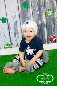 Dallas Cowboys Ruffled Bottom Onesie