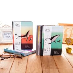 """""""Cute Whale Ver.2"""" 1pc Journal Diary Hard Cover Color Pages Notebook Planner #Unbranded"""