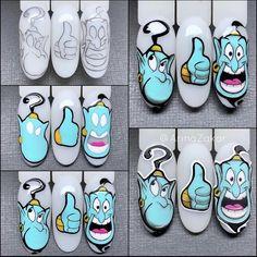 Cartoon Nail Designs, Disney Nail Designs, Nail Art Designs, Plain Acrylic Nails, Acrylic Nail Designs Coffin, Flame Nail Art, Nail Art Noel, Business Nails, Mickey Nails