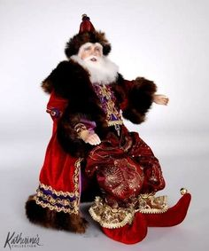 Katherine's Collection 2012 Bolshoi Christmas Santa Doll - World Gifts Store