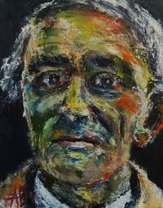 "Portrait of Otto Freundlich, Oil on Canvas 14x11"", © Copyright 2012 Alan Derwin"