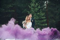 Wedding Smoke Bomb, purple