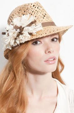 Fedora by Tarnish. The frayed pompom adds such a sweet, delicate look.