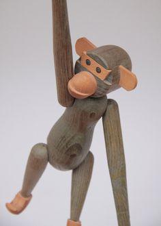 Wooden Monkey Zoo line Kay Bojesen style