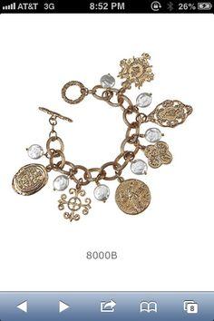 Charm toggle bracelet
