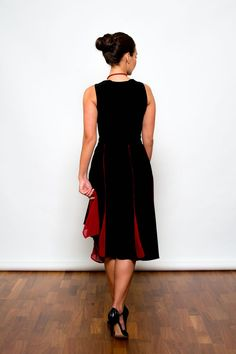 Argentine Tango Clothing, Dresses & Fashion made in the UK | Chiffon Mermaid Skirt | Picture