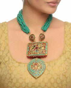 Turquoise Jewelry, Beaded Jewelry, Jewelery, Silver Jewelry, Beaded Necklace, Necklaces, Bead Jewellery, Silver Ring, Antique Jewellery Designs