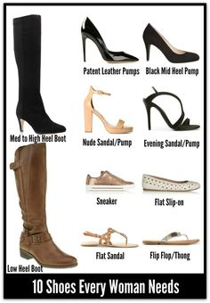 10 Must Have Shoes For Every Woman http://stylebyshape.myprivatestylist.com/blog/well-heeled-how-shoes-can-transform-your-world---pt-1/