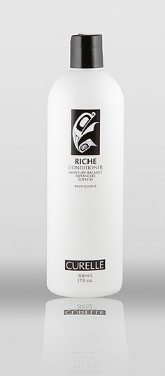 Curelle Conditioner, Detangles hair. Propylene glycol free, gluten-free, cruelty-free, fragrance fee