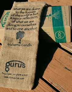 Check out @Gurus sustainable and reusable packaging! Jute is 100% #biodegradable and unlike cotton, it is rain-fed and doesn't need pesticides or fertilizers to grow.