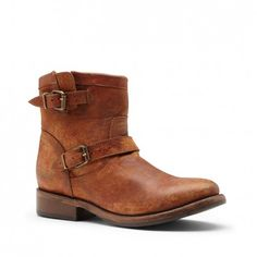 Cowgirl ;)  Women's Tan Leather 1 1/2 Inch Leather Bootie | Jax by Matisse