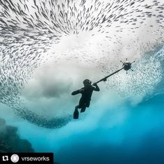 """An awesome Virtual Reality pic! #Repost @vrseworks  The Click Effect is launching today as part of Tribeca Film Festival's Virtual Arcade! In @theclickeffect follow two marine researchers as they free dive deep below the oceans surface in a single breath to capture the """"click"""" communication of dolphins and sperm whales. Presented by @annapurnapics @vrseworks  @sundanceinstitute the MacArthur Foundation and @nytimes Op-Docs #tribeca2016 #tribecafilmfestival #virtualarcade #vr #theclickeffect…"""