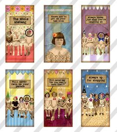 NEW Girlfriend Domino Digital Collage Sheet Art by lisasalteredart