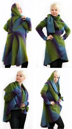 Knitting pattern for 3 in 1 sweater cardigan