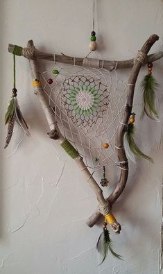 Valentines Jewelry: Dreamcatcher for Sophie ., # Check m. - Valentines Jewelry: Dreamcatcher for Sophie … - Dream Catcher Jewelry, Dream Catcher Craft, Making Dream Catchers, Dream Catcher Mobile, Dream Catcher Boho, Unusual Facts, Deco Nature, Driftwood Crafts, Driftwood Ideas