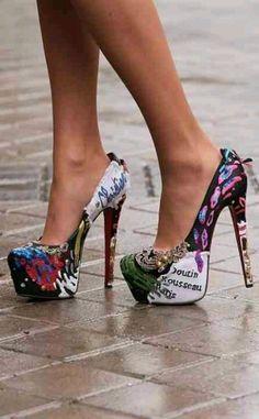 508f408018f I found  High stylish christian louboutin womans fashion heels sexy  beautiful colorful platforms  on Wish