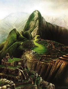 Golf Courses Machu Picchu Golf Course (a fantasy golf painting ; Fantasy Golf, Golf Painting, Trendy Golf, New Golf Clubs, Golf Pictures, Golf Score, Quelques Photos, Best Golf Courses, Inca