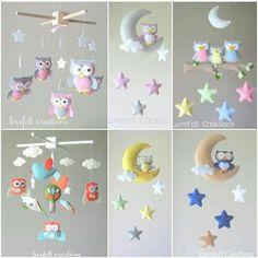 Felt Crafts Diy, Baby Crafts, Sewing Art, Baby Sewing, Handmade Baby, Handmade Toys, Baby Mobile Felt, Felt Wall Hanging, Felt Banner