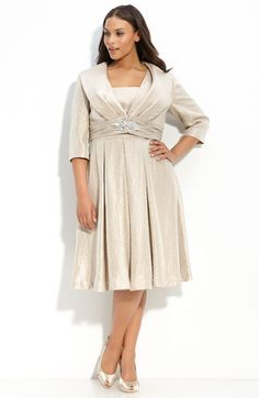Plus Size Dress With Sleeves Jacket Mob Dresses, Satin Dresses, Bridal Dresses, Hippie Dresses, Evening Dresses Plus Size, Plus Size Dresses, Plus Size Outfits, Plus Size Womens Clothing, Plus Size Fashion
