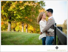 Leesburg-based Kelly Ewell Photography created these images of Erica and Andrew during their engagement portrait session at Morven Park and Ida Lee Park in Leesburg, VA.